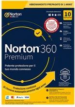 Symantec 21394979 Norton 360 Premium 2020 Antivirus 10 Utenti 1 Anno