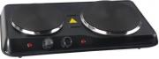Syntesy HD2011B Fornello Elettrico 2 Piastre Campeggio 2500 W Termostato Nero
