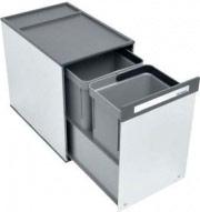 TECNOINOX BOX 2 Pattumiera Estraibile Sottolavello 2 Contenitori 10 + 10 Litri