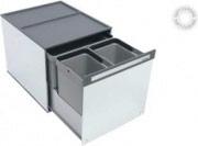 TECNOINOX BOX 3 Pattumiera Estraibile Sottolavello 3 Contenitori 10+10+16 Lt