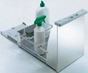 TECNOINOX PRIMA PORTADETERSIVI Contenitore Estraibile Portadetersivi per Mobili P45cm L28cm Prima