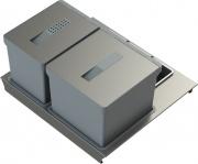 TECNOINOX T2 60 Pattumiera Differenziata per Cassettoni 2 Contenitori L 60 cm - T2