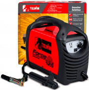 TELWIN FORCE 125 Saldatrice Inverter elettrodo Saldatura MMA + Accessori