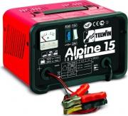 TELWIN 807544 Caricabatteria Auto Moto Monofase 12-24V 110 Watt  Alpine 15