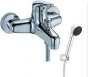 TEOREMA Miscelatore bagno doccia vasca esterno parete rubinetto soffione 150