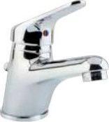 TEOREMA Miscelatore bagno lavabo rubinetto monocomando col Cromo Golf 301