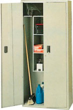TERRY Armadio Esterno Metallo Portascope 2 Ante 175x60x40 Grigio ARMADI KIT 60