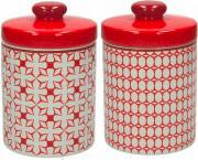 TOGNANA PORCELLANE DA1BAD73372 Barattolo Cucina Medio 1 pezzo colore Rosso Assortito