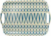 TOGNANA PORCELLANE S5934423327 Vassoio a Servire Giallo  Blu Dimensione 42 cm  Ecofiber