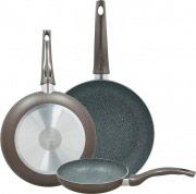 TOGNANA PORCELLANE Set 3 Padelle Alluminio Antiaderente ø 202428 cm Grancucina