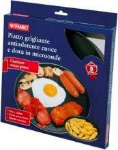 TRABO Piatto grigliante antiaderente 27cm cottura forno microonde EMC63