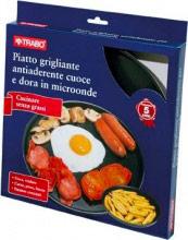 TRABO Piatto per Forno Microonde Cottura grigliata EMC66
