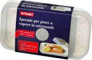 TRABO Contenitore cottura a vapore pesce e verdura forno Microonde EMWST0085
