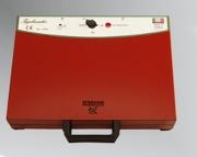 TRABO WTIGELM10 Tigelliera per 10 Tigelle con 2 piastre refrattarie Rosso