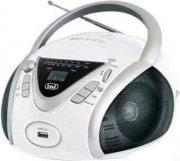 TREVI Stereo portatile Boombox Lettore Mp3 CD Radio AM FM USB Bianco CMP542