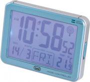 TREVI 0310104 Orologio sveglia digitale Termometro Calendario Snooze SLD3101 Blu Jumbo