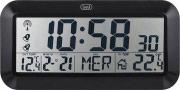 TREVI 0M352800 Orologio sveglia digitale temperatura esterna tavolo Termometro OM3528DBK