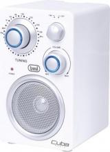 TREVI 0RA74201 Radio Portatile Analogica FM Ingresso AUX col Bianco RA 742 T