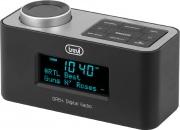 TREVI 0RC80D600 Radiosveglia Digitale DAB+ Funzioni Snooze e Sleep USB Nero RC 80D6 DAB