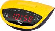 TREVI 0RC82505 Sveglia Digitale Radiosveglia Radio FM AM Memorie PLL Giallo RC 825 D