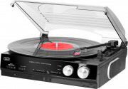 TREVI 0T101000 Stereo Giradischi 33  45 giri Mp3 Altoparlanti 10 W Nero TT1010 R