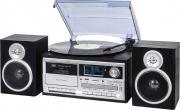 TREVI 0T107200 Sistema Micro Hi Fi Giradischi 334578 giri DAB Mp3 CD AUX TT 1072 DAB