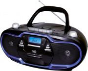 TREVI Radio Stereo Portatile Boombox Ghetto Blaster cdMp3 Nero Blu cmP 574 USB