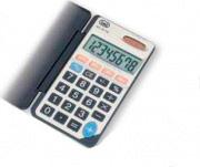 TREVI Calcolatrice da tavolo ufficio solare 8 Cifre a Batteria col Grigio EC3718