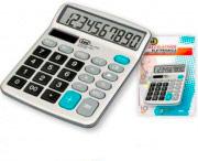 TREVI EC3770 Calcolatrice da tavolo ufficio solare 10 Cifre a Batteria 0377006