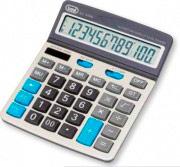 TREVI EC3780 Calcolatrice da tavolo ufficio solare 12 Cifre col Grigio 0378006
