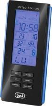 TREVI ME 3108 RC Stazione Meteo Meteorologica Termometro Orologio Sveglia Nero