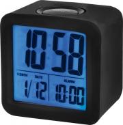 TREVI OSL386500 Orologio Sveglia Digitale Display LCD Snooze Cover Silicone Nero SLD3865