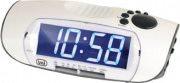 TREVI Radiosveglia Digitale AM  FM Funzione Snooze Bianco - 0085001 RC 850 BL