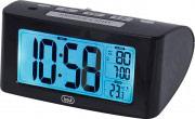 TREVI SLD 3880 Orologio Sveglia Digitale con Termometro Retroilluminato Nero