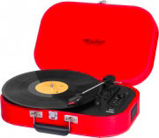 TREVI TT1020BTRED Stereo Giradischi Bluetooth Portatile 334578 giri Mp3 Rosso