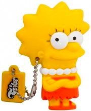TRIBE Pen Drive 8 GB Chiavetta USB 2.0 The Simpson Lisa FD003404