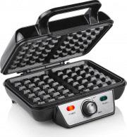 TRISTAR Macchina per Waffle Piastre Antiaderenti Termostato 1000 W Nero WF-2195