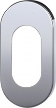 TROPEX DESIGN 279.K.60 Bocchetta Ovale Bassa mm6 Inox Sat.F.Cilindro Pezzi 10