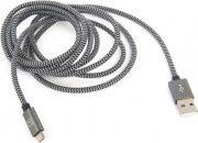 TUCANO Cavo Dati Smartphone USBMicroUSB Lunghezza 2 m Col. Grigio CA-COMU-R