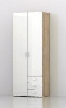 TVILUM APS 70425AKUU Armadio 2 Ante legno 78x49x200h cm Bianco