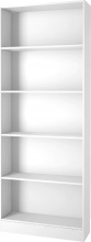 TVILUM APS 71777-49 Libreria Scaffale Verticale 4 Ripiani 80x26x203h cm Bianco