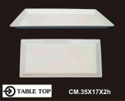 Table Top 1006 Vassoio Melamina Rettangolare cm 35x17x2h
