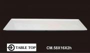 Table Top 1007 Vassoio Melamina Rettangolare cm 58x16x2h Bianco