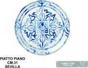 Table Top B1343 Piatto Piano cm 31 Sevilla