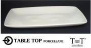 Table Top B906 Vassoio Porcellana Bianco Rettangolare cm 44x26