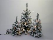 Tabor 030728 Albero di Natale Albero Innevato  con Luci cm 70