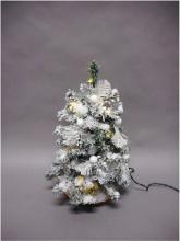 Tabor 158934 Albero di Natale con luci Argento 40 cm 2018
