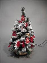 Tabor 159115 Albero di Natale con luci Rosso 40 cm 2019