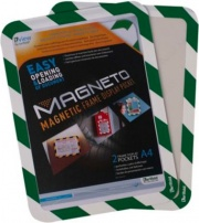 Tarifold B194975 Confezione 2 Magneto con Retro Ades A4 VerdNer