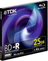 Tdk Disco Blu-Ray BD-R da 25Gb 4 x - BD-R25JC4EB